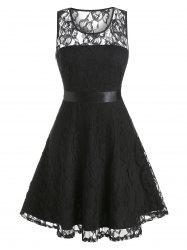 Flower Lace A Line Party Dress -