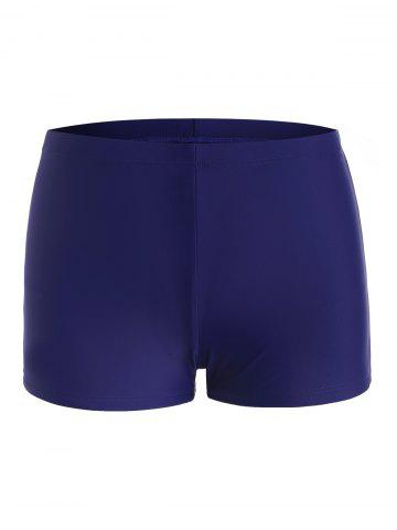 Mid Rise Solid Color Swim Shorts