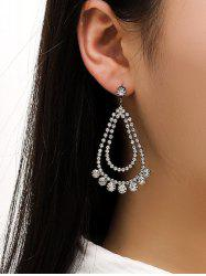 Rhinestone Water Drop Wedding Earrings -