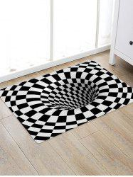 3D Plaid Hole Pattern Water Absorption Area Rug -