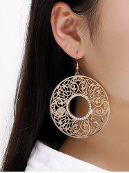 Alloy Hollow Out Round Drop Earrings -