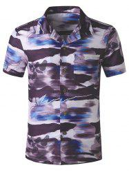 Pocket Patch Print Casual Beach Shirt -