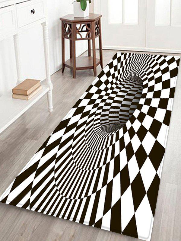 Store Plaid Hole 3D Print Water Absorption Area Rug