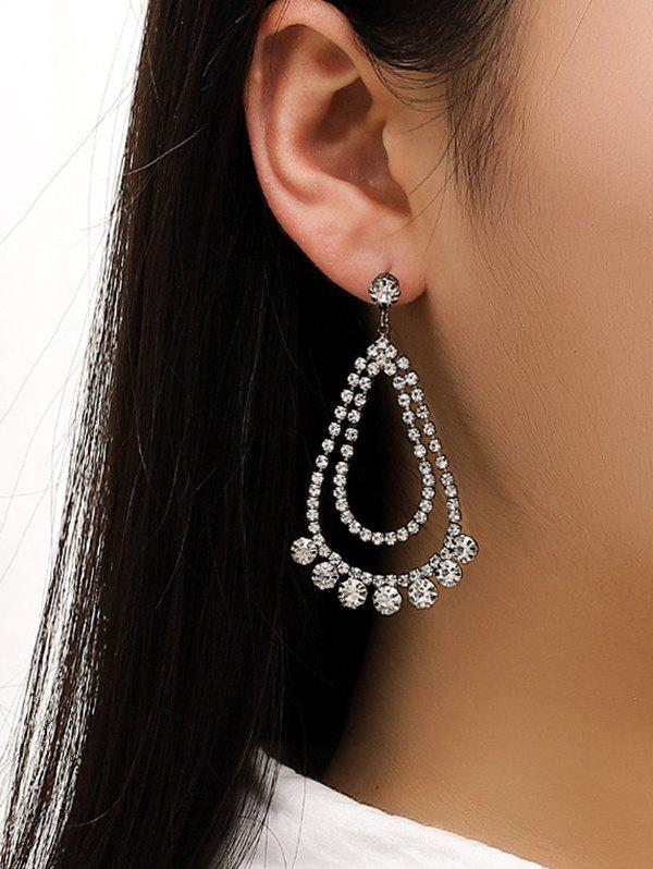 Unique Rhinestone Water Drop Wedding Earrings