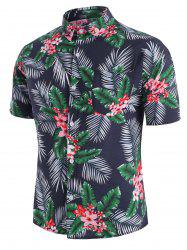 Tropical Flower Leaf Beach Shirt -