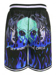 Flame ET Graphic Drawstring Shorts -
