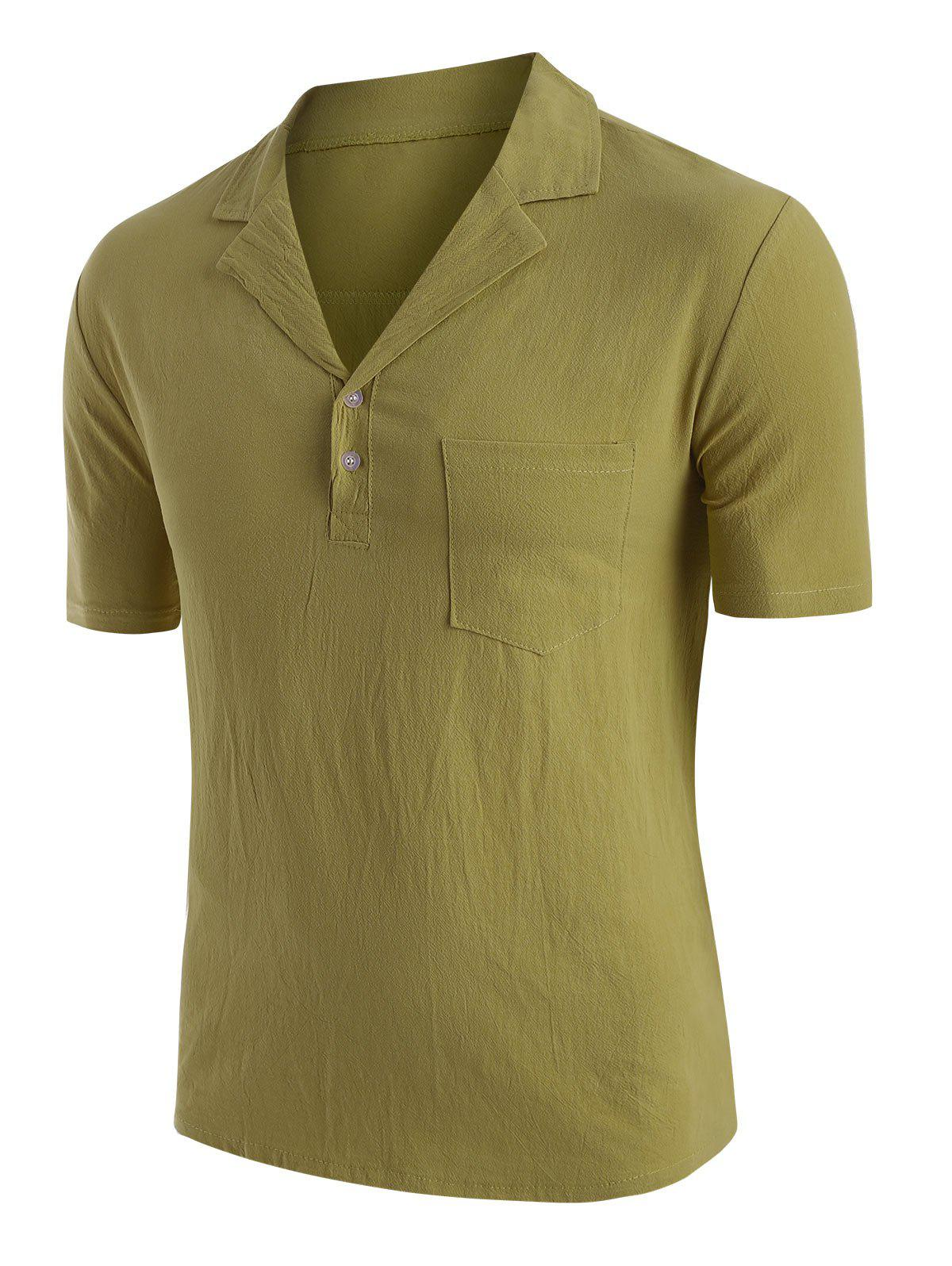 Discount Solid Color Chest Pocket T-shirt