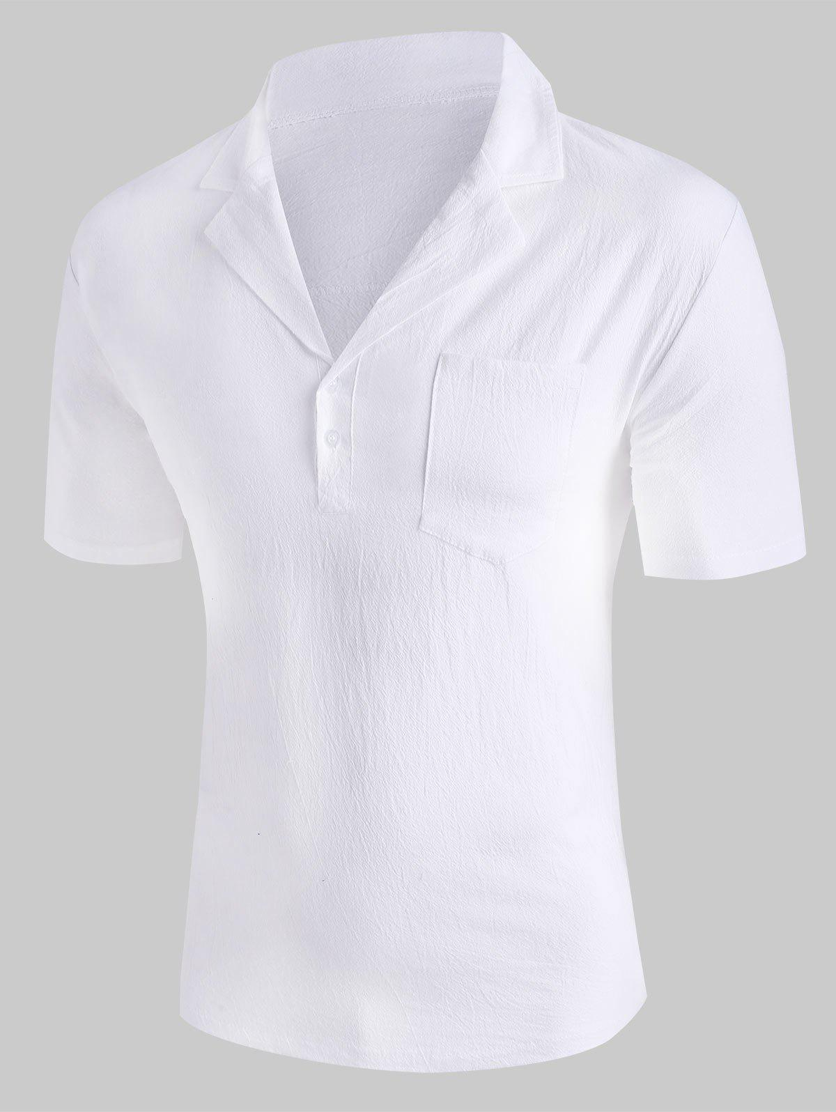 Store Solid Color Chest Pocket T-shirt