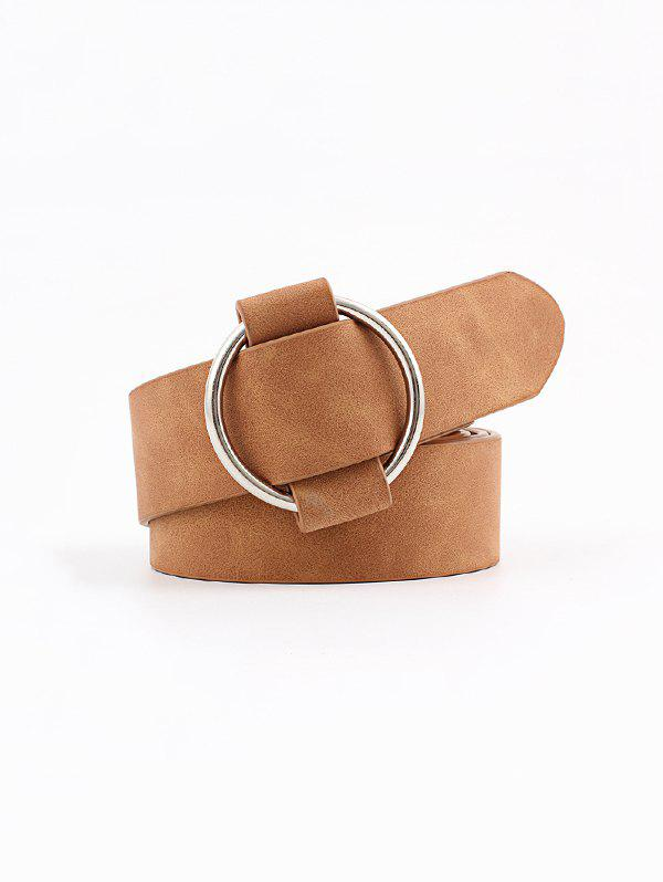 Affordable Circle No Pin Buckle Wide Belt