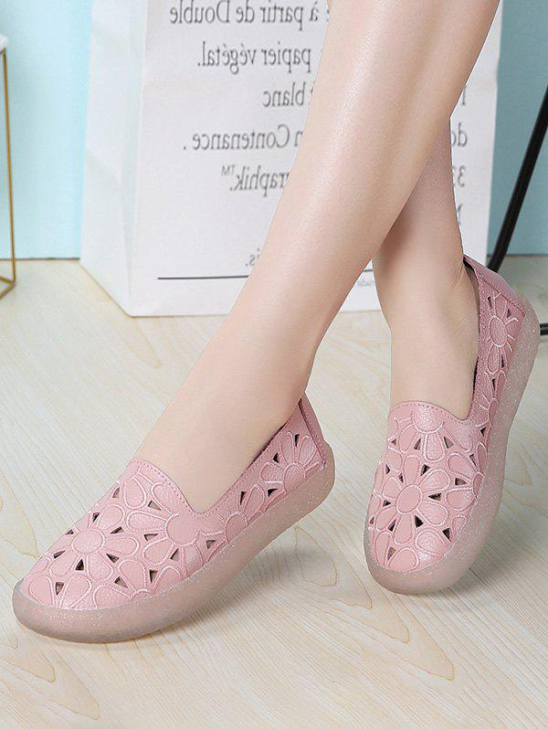 Store Floral Embroidery Hollow Out Flat Shoes