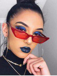 Irregular Anti UV Narrow Sunglasses -