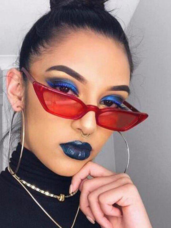 Affordable Irregular Anti UV Narrow Sunglasses