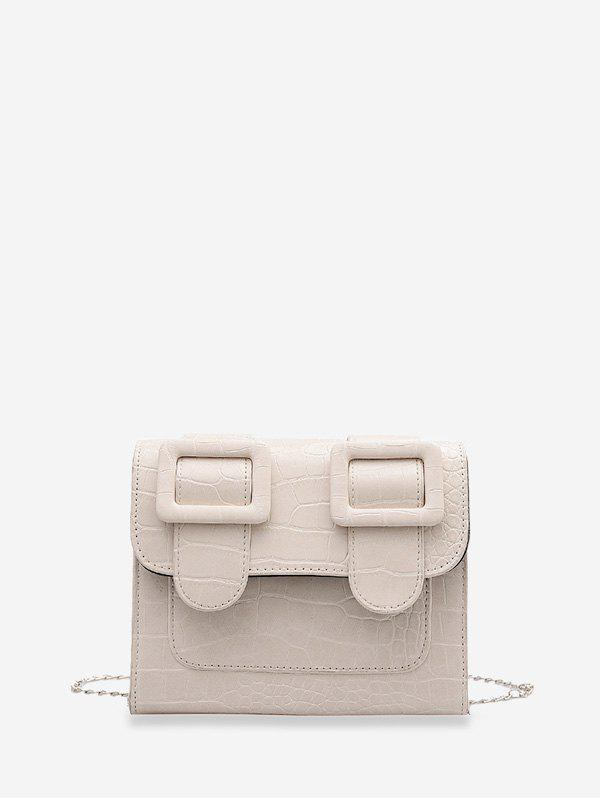 Affordable Textured Chain Square Satchel Bag