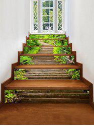 Mountains Stairs Pattern Decorative Stair Stickers -