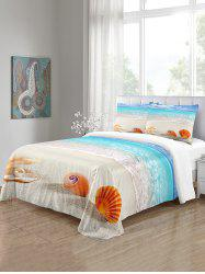 Beach Shell Pattern 3PCS Bedding Set -