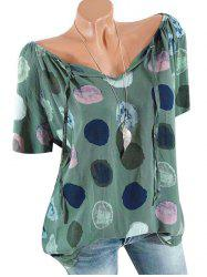 Plus Size Printed Peasant Top -