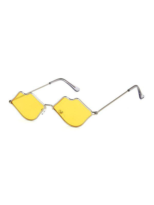 Store Outdoor Lip Shape Personalized Metal Sunglasses