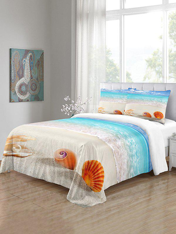 Outfit Beach Shell Pattern 3PCS Bedding Set
