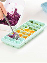 Kitchen Tool Square Shape Silicone DIY Ice Cube Mold -