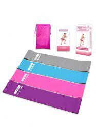 4Pcs Silicone Yoga Fitness Tensile Resistance Loop Band -
