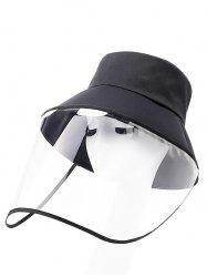 Detachable Face Shield Outdoor Protective Bucket Hat -