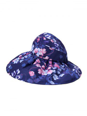 Foldable Flower Pattern Summer UV Protection Visor Cap