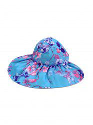 Foldable Flower Pattern Summer UV Protection Visor Cap -