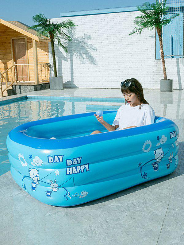 Store Rectangle Inflatable Swimming Pool Children Play Pool Outdoor Swimming Pool