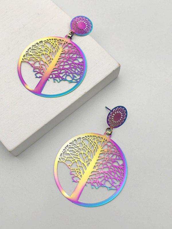 Hollow Out Colored Tree Of Life Earrings фото