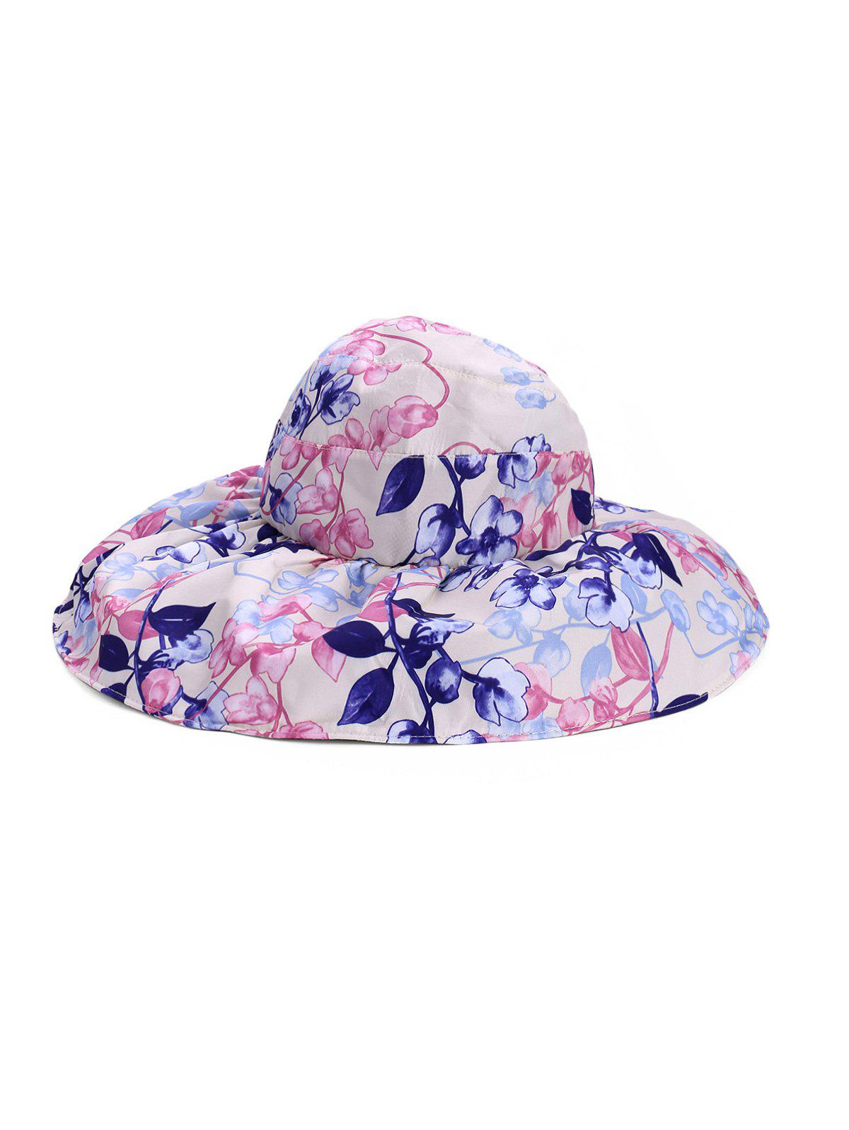 Shops Foldable Flower Pattern Summer UV Protection Visor Cap
