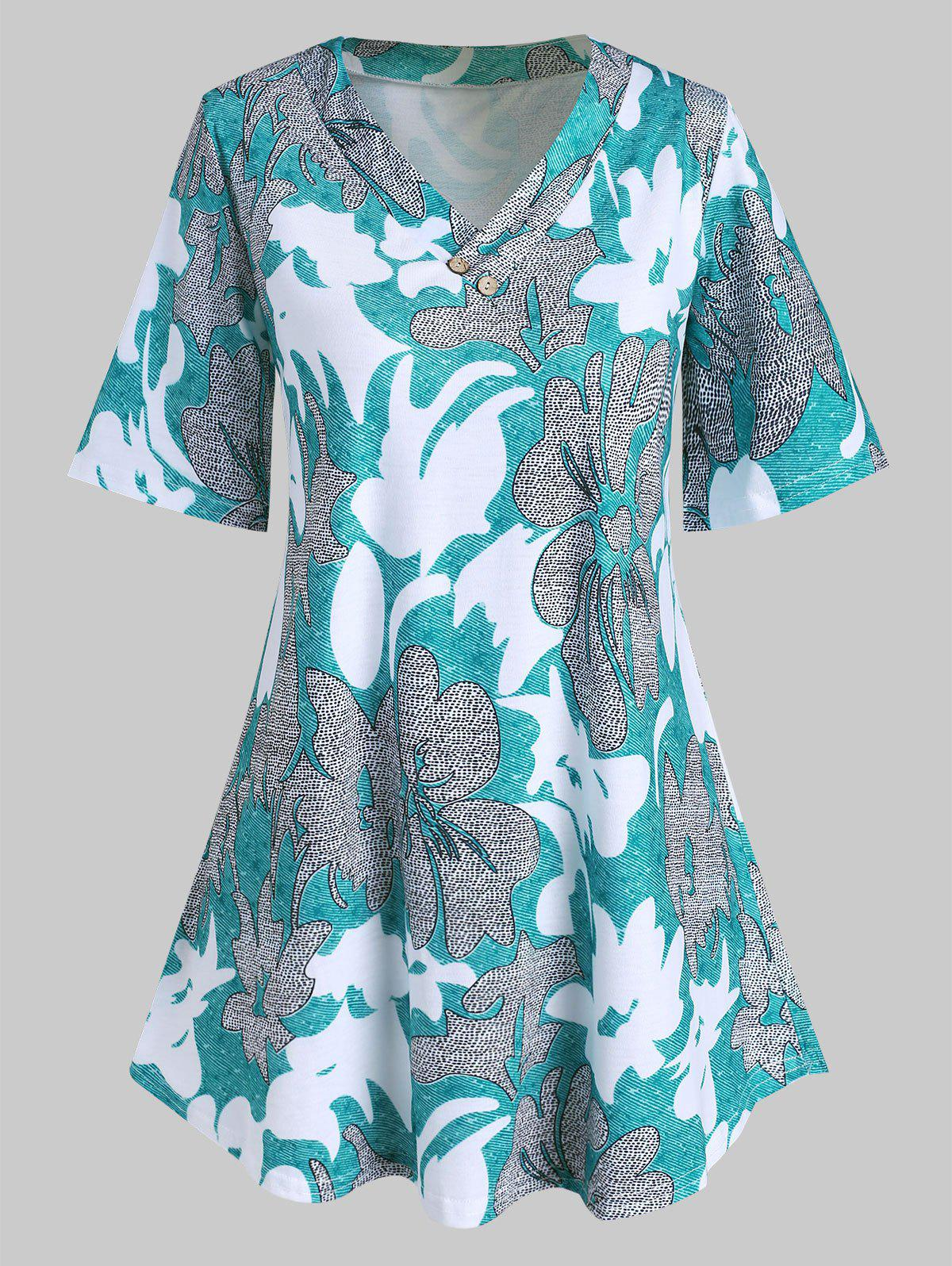 Outfit Plus Size Printed Tunic T Shirt