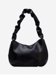 Wrinkle Handle Leather One Shoulder Bag -