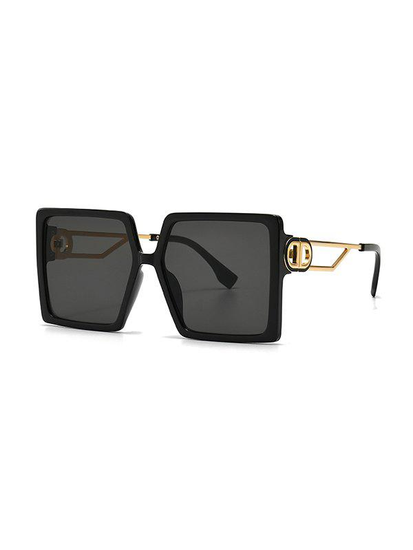 Online Hollow Temple Square Oversized Sunglasses