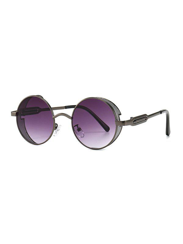 Trendy Punk Hollow Out Frame Round Sunglasses