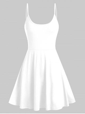 Robe Simple à Bretelle Fine - WHITE - L