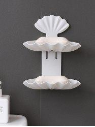Wall-mounted Double-layered Bathroom Drain Soap Holder -
