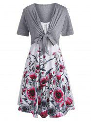Floral Cami Dress and Tie Front Top -