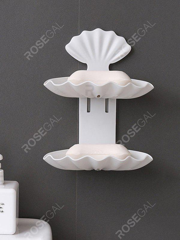 Discount Wall-mounted Double-layered Bathroom Drain Soap Holder