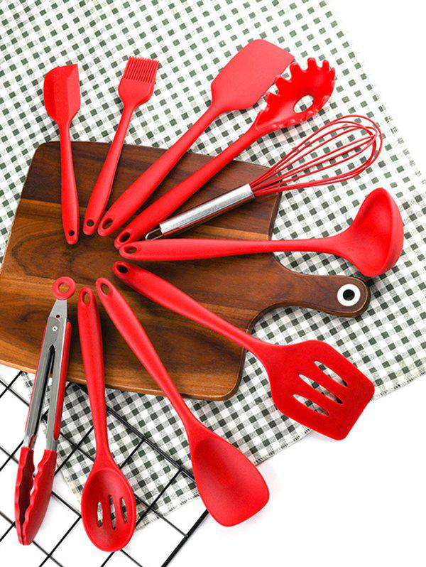 Affordable 10Pcs Silicone Non-stick Kitchen Cooking Tool Set