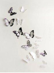 3D Colorful Butterfly Wall Decorative Stickers Set -