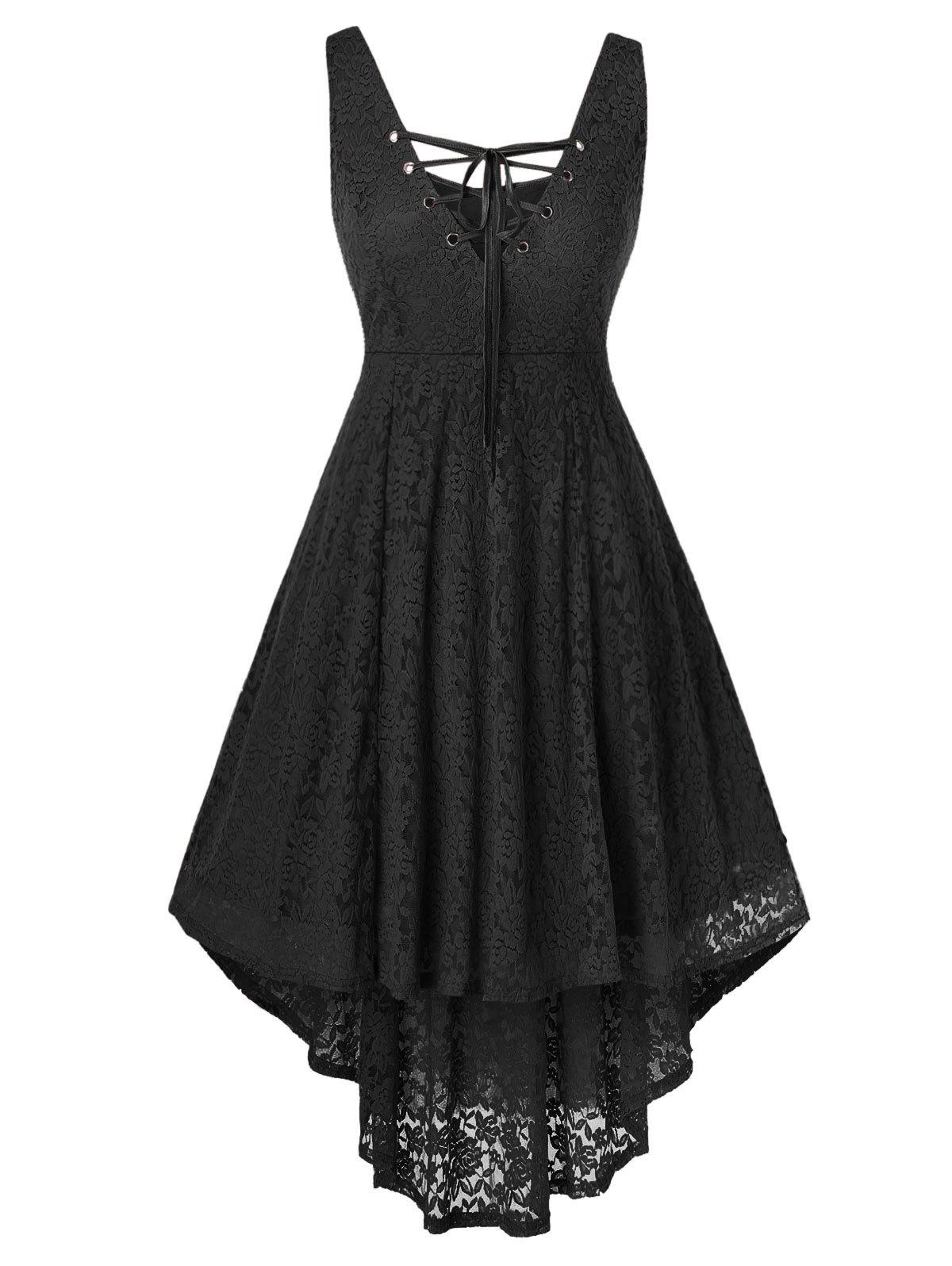 Buy Plus Size Lace High Low Sleeveless Dress