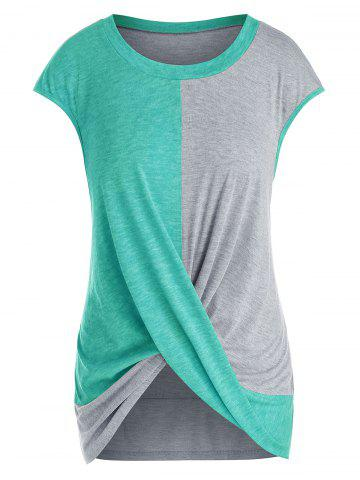 Plus Size Cap Sleeve Criss Cross T-shirt