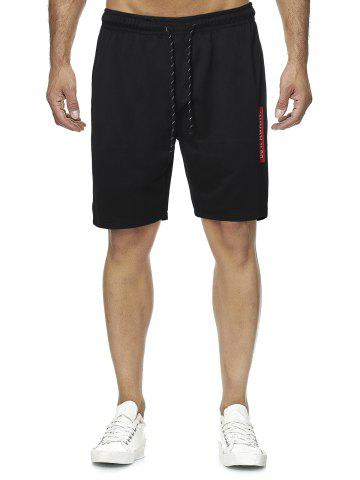 Letter Graphic Casual Straight Shorts