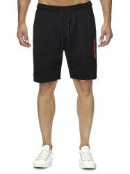 Letter Graphic Casual Straight Shorts -