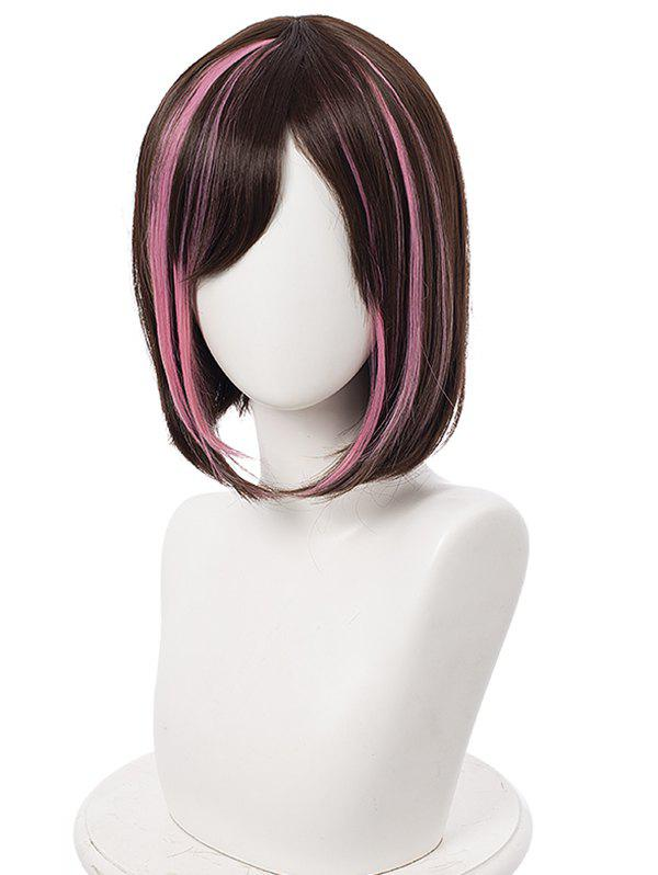 Unique Short Highlighted Straight Bob Anime Cosplay Synthetic Wig