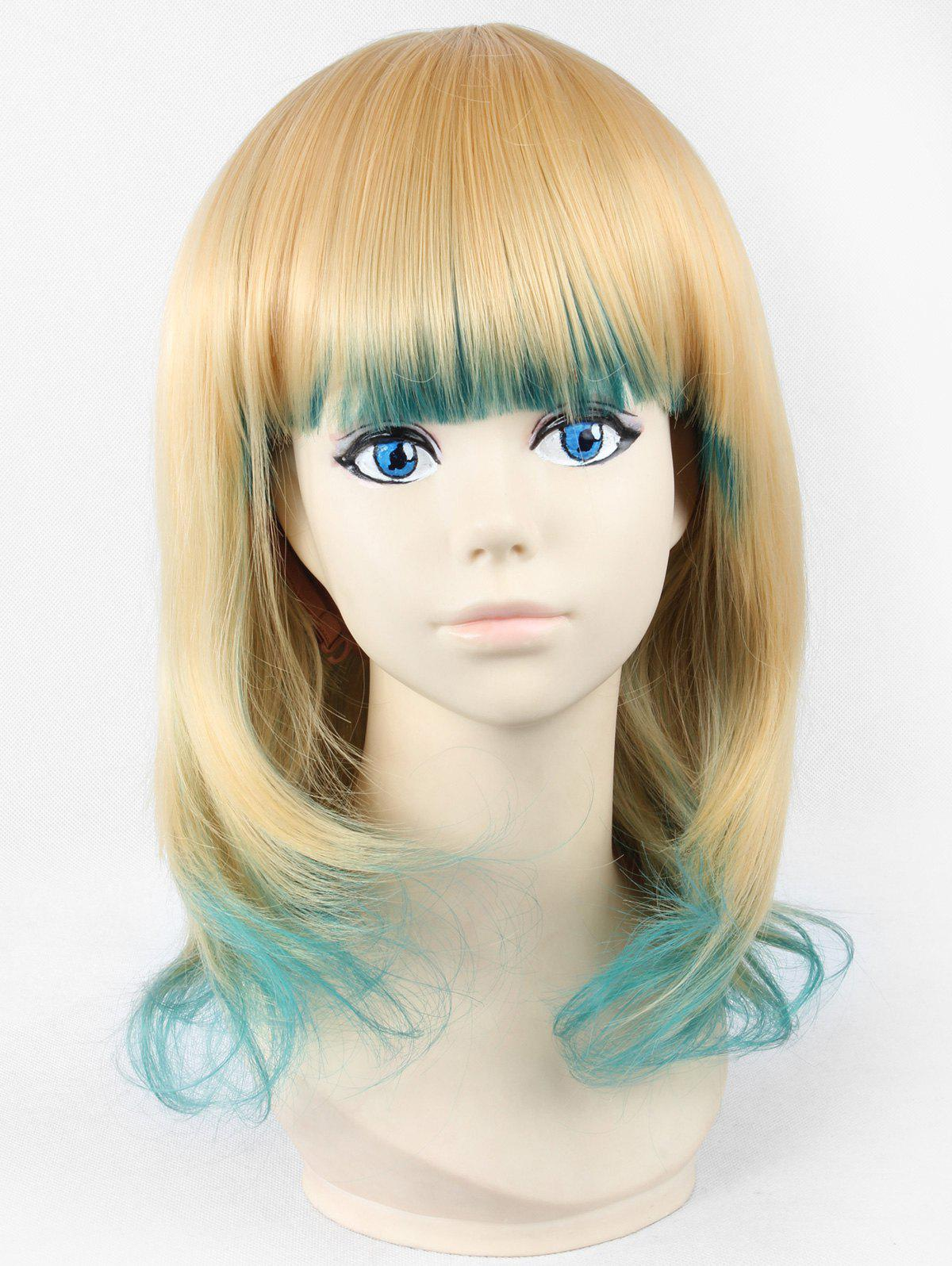 Store Medium Neat Bang Gradient Cosplay Anime Synthetic Wig