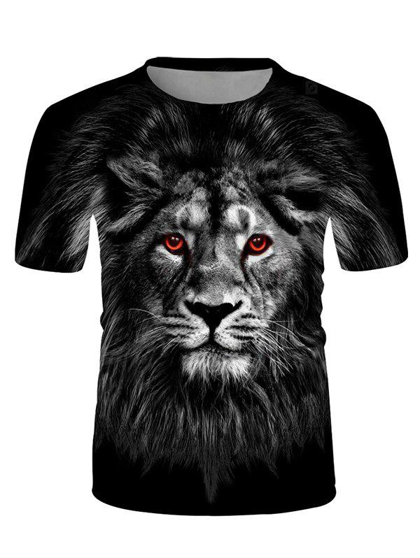 Shops Dark Lion Graphic Crew Neck Casual T Shirt