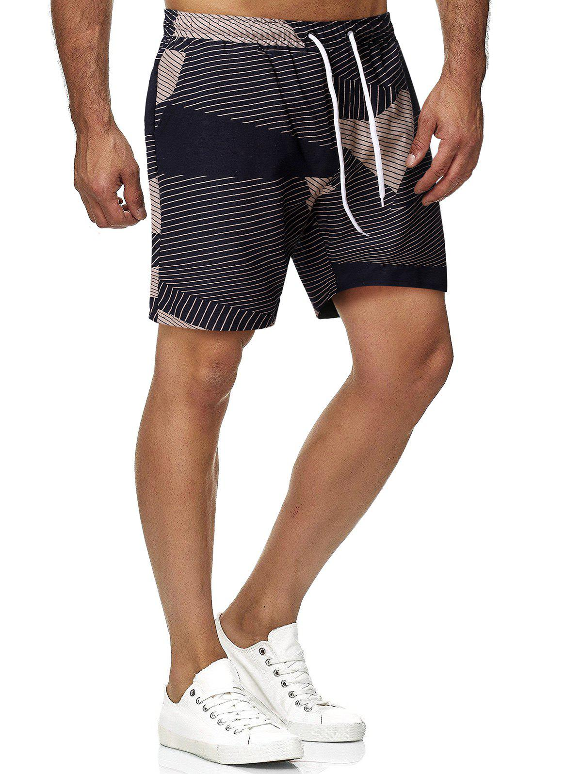 Shop Drawstring Striped Bermuda Shorts
