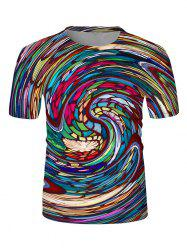 T-shirt Graphique Vortex Coloré Imprimé - Multi 2XL