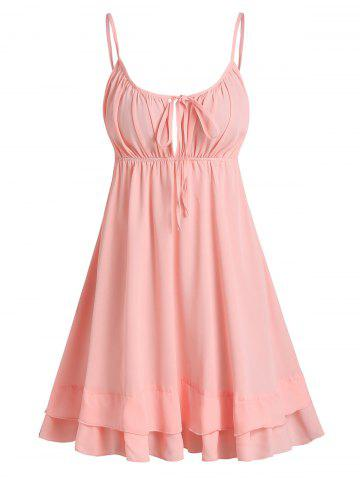 Open Back Tie Knot Cami Dress